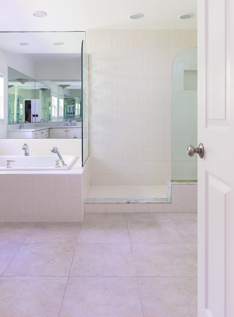 Janet Coon of Shabby Fufu finds the perfect, budget-friendly solution to a complete master bathroom makeover at The Home Depot.