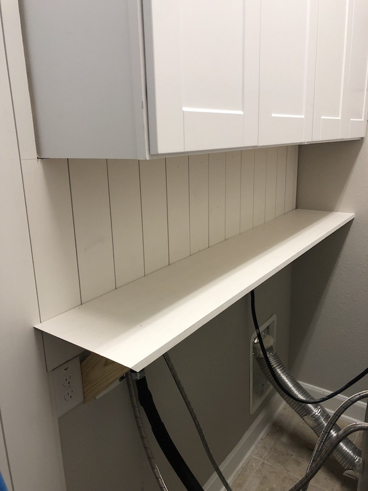 Laundry Room Makeover: Adding More Storage Space