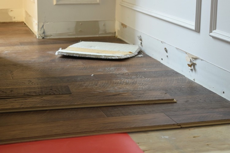 Easy Carpet to Hardwood Flooring House Transformation