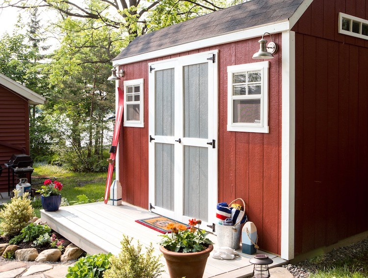 DIY Backyard Shed Turned Beach Bunkhouse