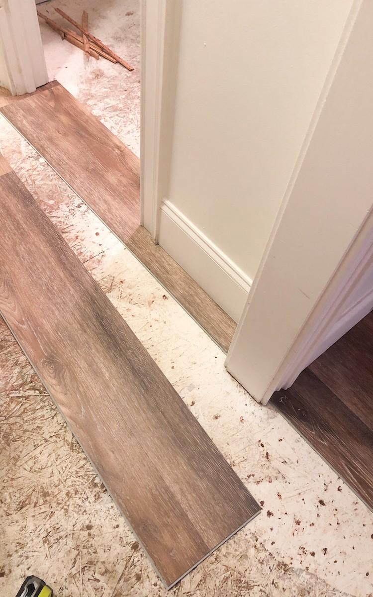 LifeProof Luxury Vinyl Plank Flooring Bedroom Makeover