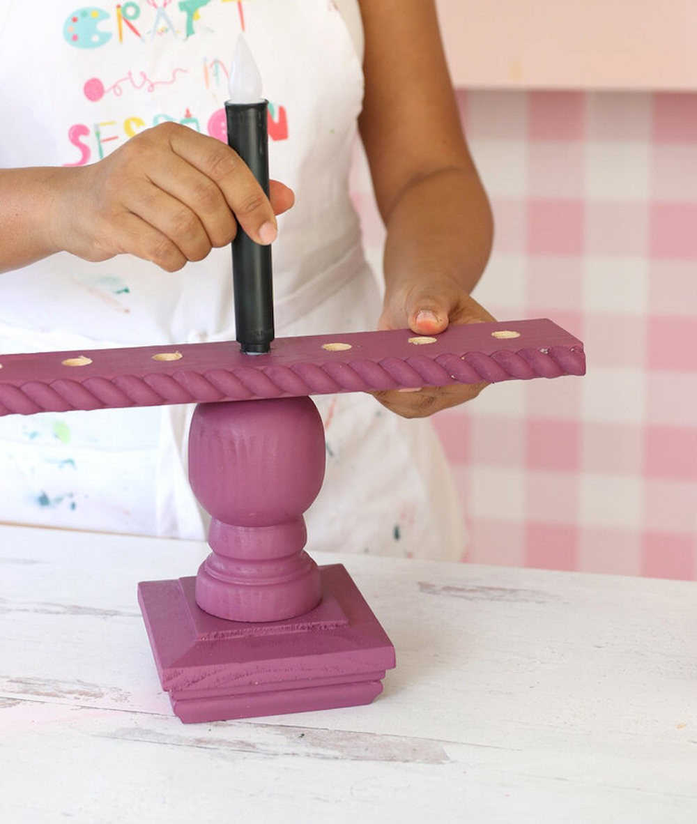 Paint wood base